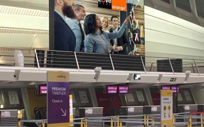 Display LED Aeropuerto de Bilbao